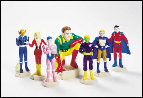 Legion of Super-Heroes PVC statues